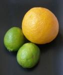 Naranja y limas