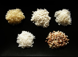 Distintos tipos de arroz