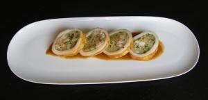 Calamares rellenos de camarones