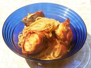 Espagueti con langosta