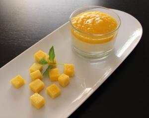 Pannacotta de mango